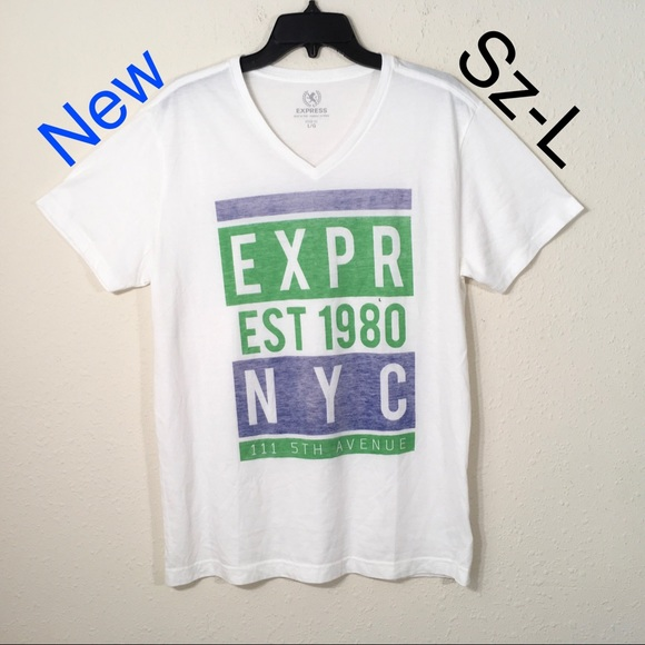 ff2b7b92c Express Shirts | New Mens Graphic V Neck T Shirt P | Poshmark